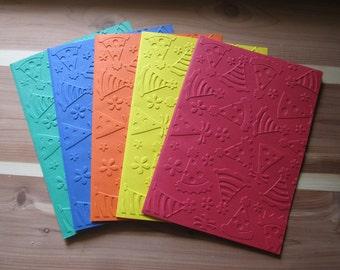 Set of 5 Embossed Birthday Cards