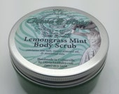 Lemongrass Mint Sea Salt Body Scrub - 8 oz Jar