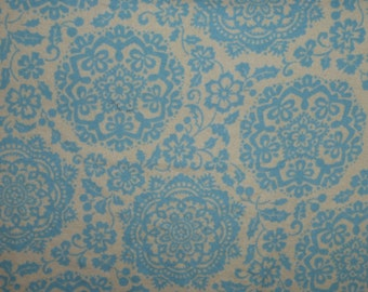 Blue and cream changing pad cover/ changing pad cover