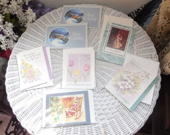 Vintage Holiday Cards, Cards, Easter Card, Christmas Cards, Scrap booking,  7 Different Vintage  Holiday Cards, :)s