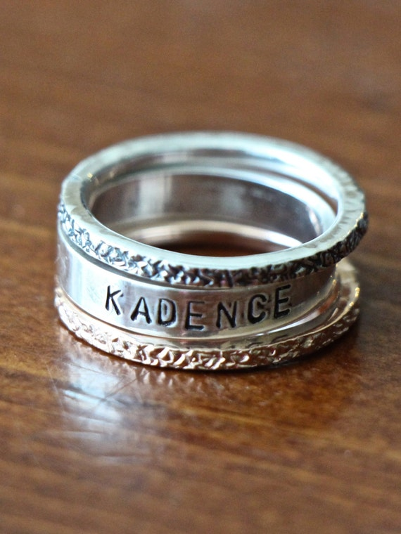 Etsy Personalized Stackable Rings