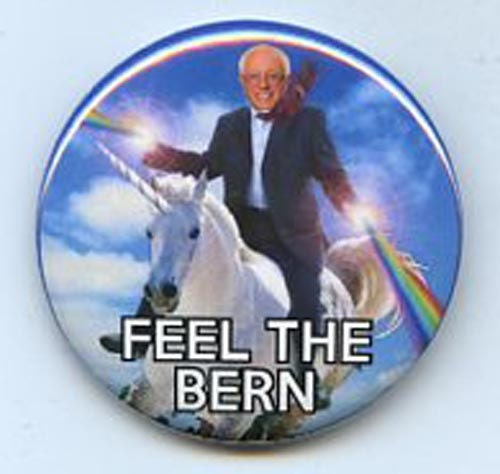 Bernie Sanders Feel the Bern Unicorn button
