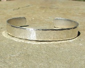 Personalized Hand Stamped Sterling Silver Cuff Bracelet You Customize