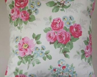 "Cushion Cover in Cath Kidston Regal Rose 16"""