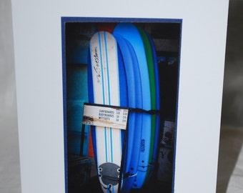 photo card, surfboard photography, California