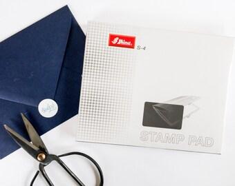 Extra Large Black Stamp Pad - Large Ink Pad - Oversized Black Ink Pad - Office Style Ink Pad - Shiny Felt Ink Pad - XL Black Ink Pad