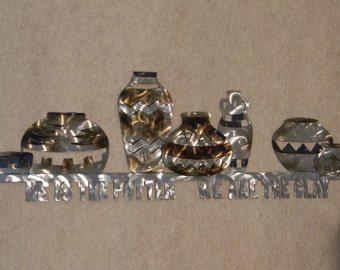 Christian Metal Wall Art Sculpture--Clay Pots