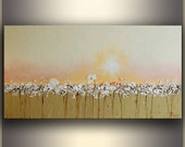 "Art Painting Oil 24""x48"" Floral Oil painting ORIGINAL Art Landscape painting Original Painting on Canvas Oil painting Flowers by Tatjana"