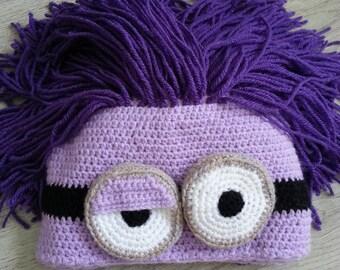 FREE SHIPPING Minion Crochet Child Hat