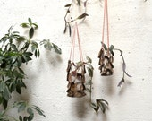 Leather Honeycomb Cut-out Hanging Planters Candle Holder Natural Home Wedding Decor