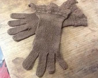 Beautiful Edwardian Crocheted Gloves