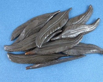 Carved Bone Feathers