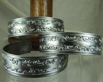 Vintage steel cuff blanks bracelets