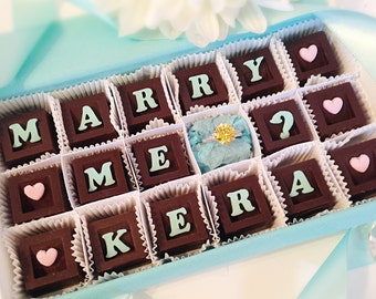 Marry Me Chocolates and Ring - Unique Personalized Marriage Proposal - Will You Marry Me Chocolates