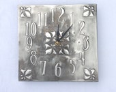 Pewter Lily Clock