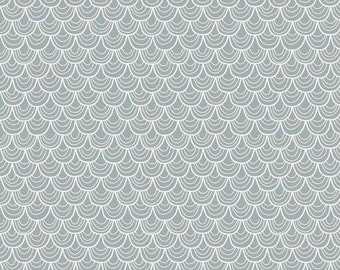 """Riley Blake Designs """"Merry Little Christmas"""" by Zoe Pearn - Merry Scallop Gray - 1/2 yard"""