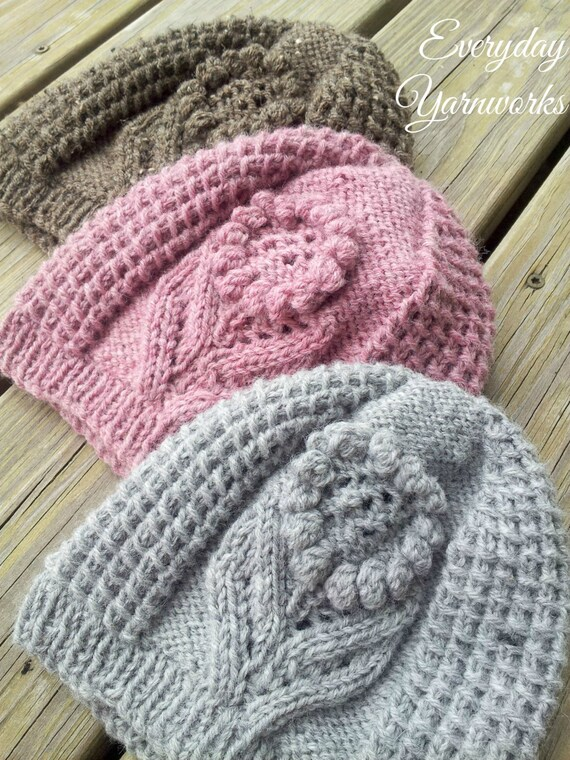 Knit Beanie Pattern Worsted Weight : Knitting PATTERN Ode to Summer Hat // sport dk worsted and