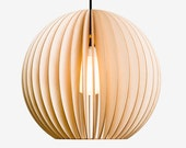 AION wooden pendant light, wood lamp,  light fixture, light fittings