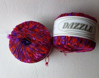 Yarn Sale  - Scarlet Purple 112 Dazzle by KFI