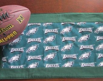 Philadelphia Eagles handmade quilted table runner.