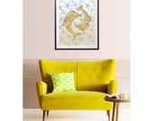 Art Print for Home or Nursery / original digital mixed media giclee art prints home decor nursery decor kids wall art illustration / 8x10