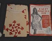 1960s Paper Dress 1960s Pop Art Seagram's 7 Paper Dress Mod Cocktail Party Kit 1960s Mars of Asheville Waste Paper Boutique Pop Art Dress