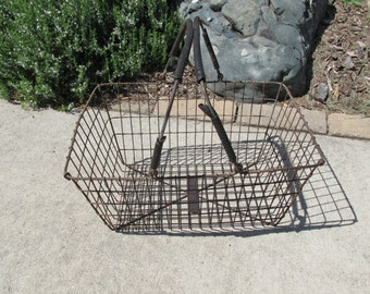 Meta Wire Shopping Basket, Industrial Handled Wire Basket