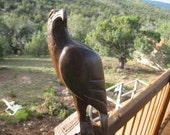 Handcarved Ironwood Perched Eagle Vintage Very good condition RARE and beautiful