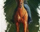 Original Nicolae Equine Art Nicole Smith Artist Horse oil painting Impressionism Chestnut Saddlebred 8x10