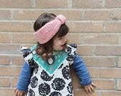 super chunky kid  knitted  headband,  CHOOSE YOUR COLOR