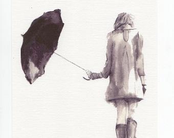 Umbrella Print, A4