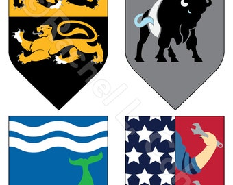 NWHL Women's Hockey Game of Thrones Inspired Medieval Fantasy Sigil Poster 12x18