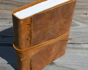 Distressed Leather Texas Journal Diary Bound Notebook Custom Order (457C)
