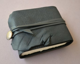 Leather Pocket Journal Handmade Bound Diary Back Pack Notebook (400C)