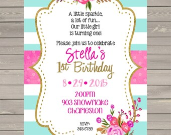 peace love gymnastics birthday party invitations by