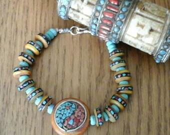 Yak bone bracelet.