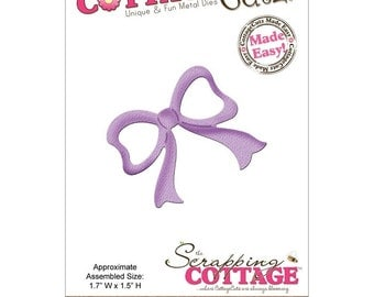 COTTAGE CuTZ - BOW- MINI #156   New for Cuttlebug Sizzix or Other Machines