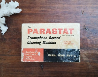 Vintage Parastat Gramophone Record Cleaning Machine