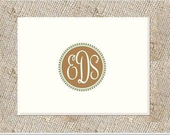 Classic Monogram Stationery - 25 notes & envelopes