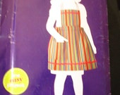 Children's Size 3-6 Apron Pattern B Simplicity Sew Simple Uncut and Factory Folded