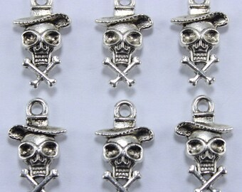 Zombie Skeleton Halloween Charm for Halloween Jewelry, Goth Jewelry, Jewelry Making - C92615