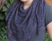 Wings of an Autumn Moth Shawl Knitting Project Kit - Contains: PDF Pattern and Hand Dyed Celeste Yarn in Colorway of Choice