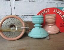 Vintage Faucet Strainer Kitschy Kitchen Decor