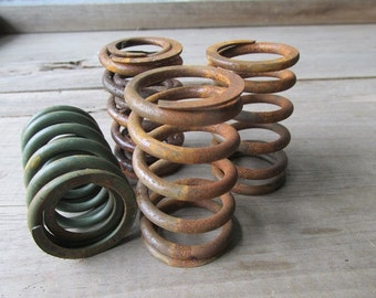 Rustic Metal Springs Primitive Candle Holder
