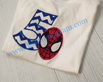 Spiderman Birthday Shirt - You pick the number