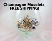 30 Champagne Wire Cages and Caps FREE SHIPPING