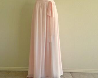 Blush Pink Bridesmaid Skirt. Maxi Skirt.