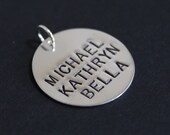 "Sterling silver names charm - 7/8"" (22.2mm)"