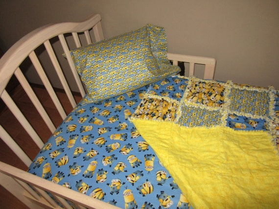 toddler bed minions despicable me fabric crib set large
