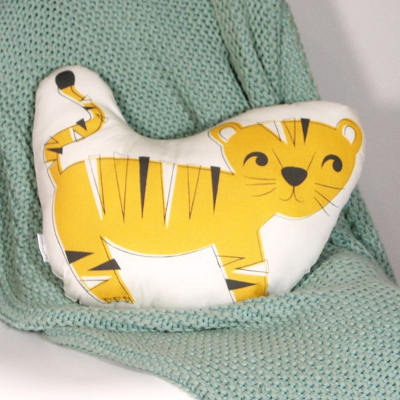 Animal Shaped Eye Pillow : Tiger Animal-Shaped Pillow by EineKleineDS on Etsy